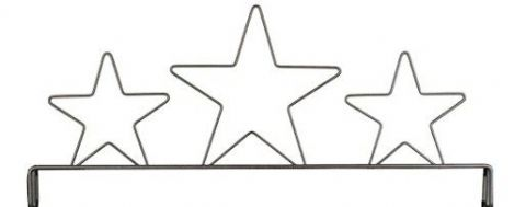 Header 3 Star Gray 12in